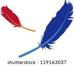 feathers illustration | Shutterstock .eps vector #119163037