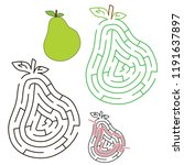 green pear  the labyrinth... | Shutterstock .eps vector #1191637897