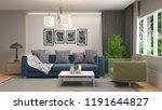 interior of the living room. 3d ... | Shutterstock . vector #1191644827