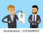 happy caucasian businessman... | Shutterstock .eps vector #1191648967