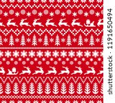 christmas pattern in classic... | Shutterstock .eps vector #1191650494