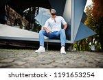 stylish tall arabian man model... | Shutterstock . vector #1191653254