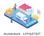 modern isometric smart delivery ...