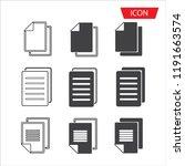 copy file icon. duplicate... | Shutterstock .eps vector #1191663574