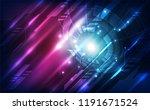 abstract digital technology... | Shutterstock .eps vector #1191671524