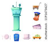 vector design of airport and...   Shutterstock .eps vector #1191673627