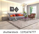 interior of the living room. 3d ... | Shutterstock . vector #1191676777