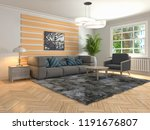 interior of the living room. 3d ... | Shutterstock . vector #1191676807