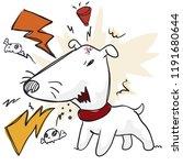 angry bull terrier barking at... | Shutterstock .eps vector #1191680644