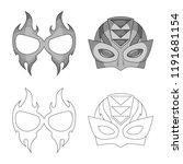 vector design of hero and mask...   Shutterstock .eps vector #1191681154
