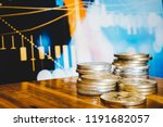 financial cryptocurrency coin... | Shutterstock . vector #1191682057