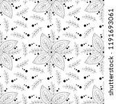 floral seamless pattern. | Shutterstock .eps vector #1191693061