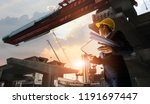 construction engineer manager... | Shutterstock . vector #1191697447
