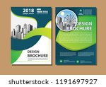 brochure template layout  cover ... | Shutterstock .eps vector #1191697927