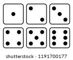 dice icon. craps. six dice set. ... | Shutterstock .eps vector #1191700177