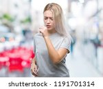 young blonde woman over... | Shutterstock . vector #1191701314