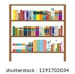 library wooden book shelf.... | Shutterstock .eps vector #1191702034
