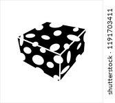 cheese icon  line art design ... | Shutterstock .eps vector #1191703411