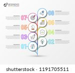 infographic design template....   Shutterstock .eps vector #1191705511
