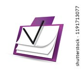 icon notepad in 3d  beautiful... | Shutterstock .eps vector #1191713077