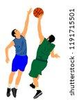 basketball players vector... | Shutterstock .eps vector #1191715501