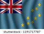 flag of tuvalu. tuvalu icon... | Shutterstock .eps vector #1191717787