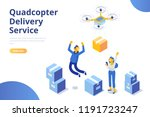 quadcopter delivery service... | Shutterstock .eps vector #1191723247