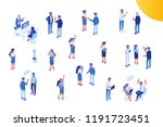 isomeric office people vector... | Shutterstock .eps vector #1191723451