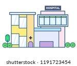 hospital flat design style   Shutterstock .eps vector #1191723454