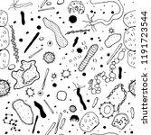 microbiology seamless pattern... | Shutterstock .eps vector #1191723544