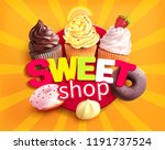 sweet shop label. promo... | Shutterstock .eps vector #1191737524