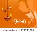 happy diwali wallpaper design... | Shutterstock .eps vector #1191741601