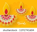 happy diwali wallpaper design... | Shutterstock .eps vector #1191741604