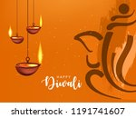 happy diwali wallpaper design... | Shutterstock .eps vector #1191741607
