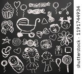 set elements for your... | Shutterstock .eps vector #1191744934