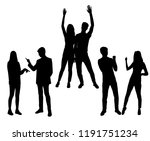 vector silhouettes men and... | Shutterstock .eps vector #1191751234