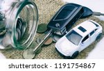saving money for car loan and... | Shutterstock . vector #1191754867