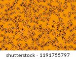 pumpkin pattern of halloween ... | Shutterstock .eps vector #1191755797