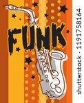 funk music lettering type... | Shutterstock .eps vector #1191758164