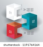 abstract cubes infographics...