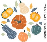 autumn illustration   pumpkin ... | Shutterstock .eps vector #1191770167