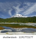 reflection lake and mount...   Shutterstock . vector #1191772177