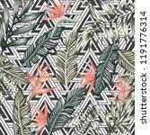 seamless vector pattern of... | Shutterstock .eps vector #1191776314