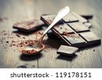 closeup of cocoa powder and... | Shutterstock . vector #119178151