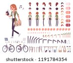 young red haired woman... | Shutterstock .eps vector #1191784354