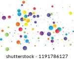 festive color round confetti... | Shutterstock .eps vector #1191786127