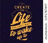 inspirational quote  motivation.... | Shutterstock .eps vector #1191787897