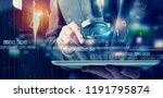 businessman found a backdoor... | Shutterstock . vector #1191795874