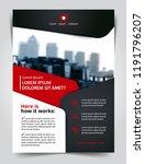 vector brochure  flyer ... | Shutterstock .eps vector #1191796207