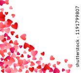 ruby red flying hearts bright...   Shutterstock .eps vector #1191799807